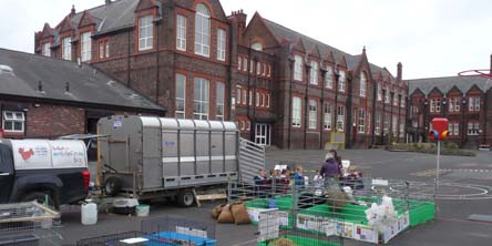 Fishers Mobile visit to Anfield Infants, Liverpool