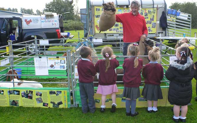 Fishers Mobile Farm visit to Ince C of E Primary School