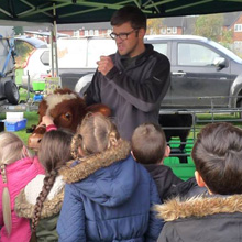 Fishers Mobile Farm visit to Middlefield Primary, Liverpool